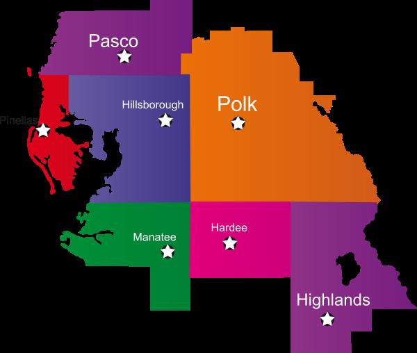 Faith Home Health, Inc. Service Area Map